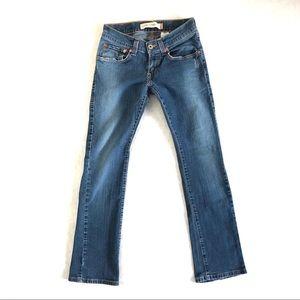 Levi's Jeans Low Straight Leg Stretch Medium Wash
